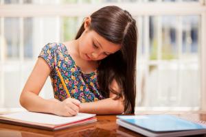 Focused on homework
