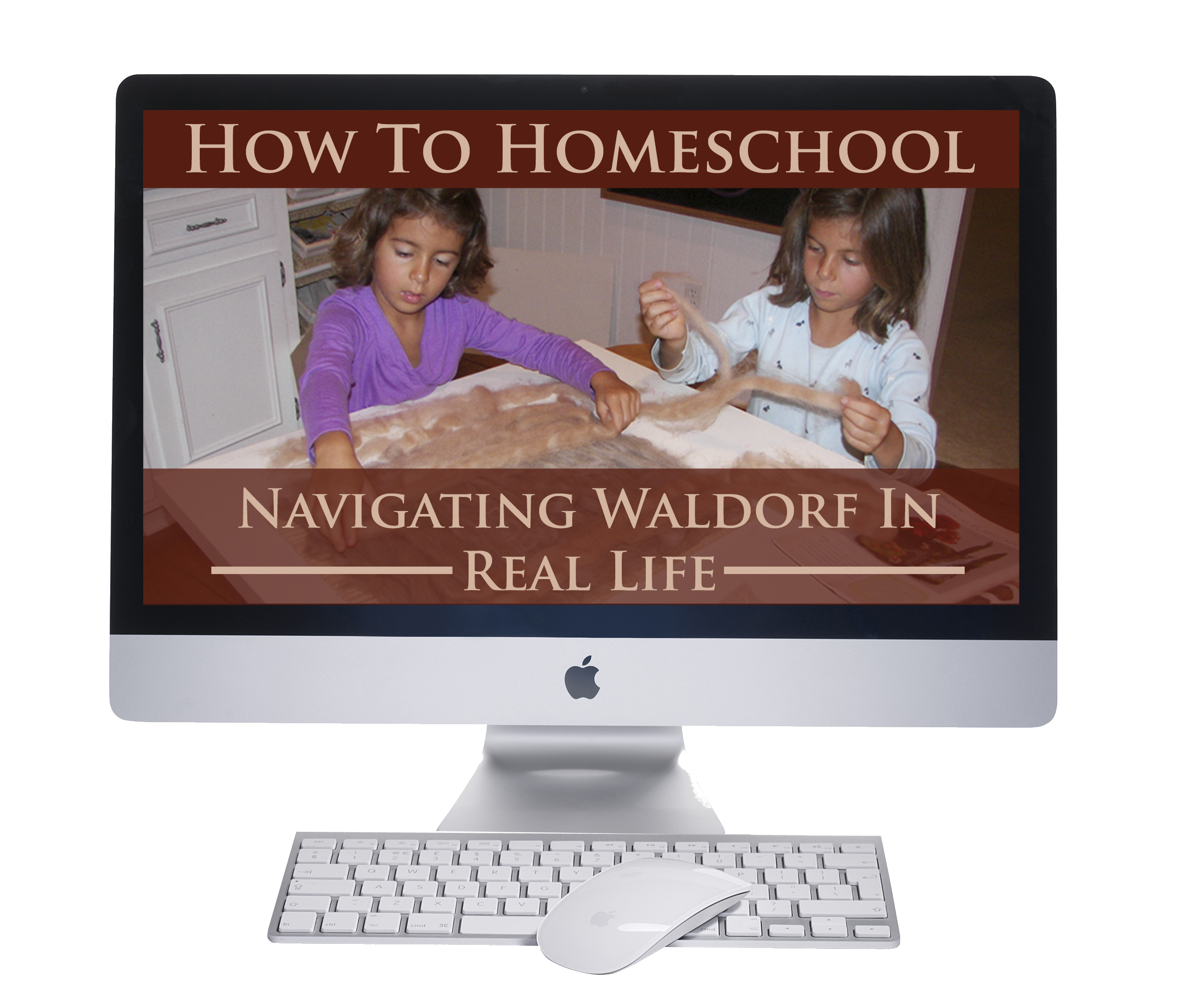 Waldorf homeschooling weaving in spring for Waldorf at home